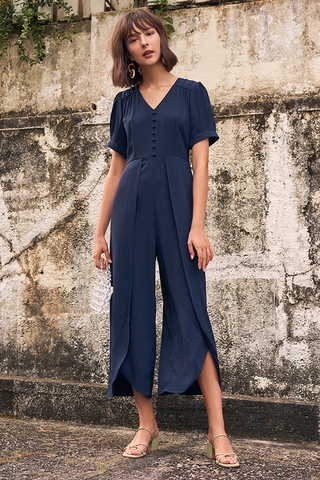 Shandelia Jumpsuit in Navy