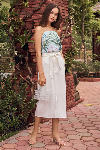 Scarlett Midi Skirt in White