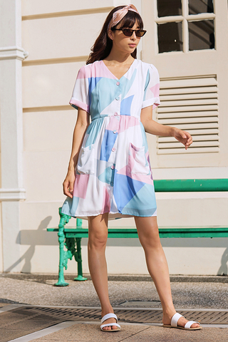 Kai Abstract Printed Dress