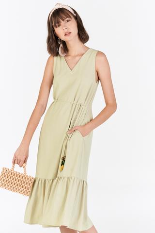 Julisa Two Way Midi Dress in Sage