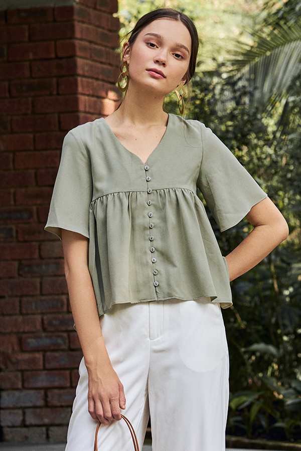 Estelle Top in Sage