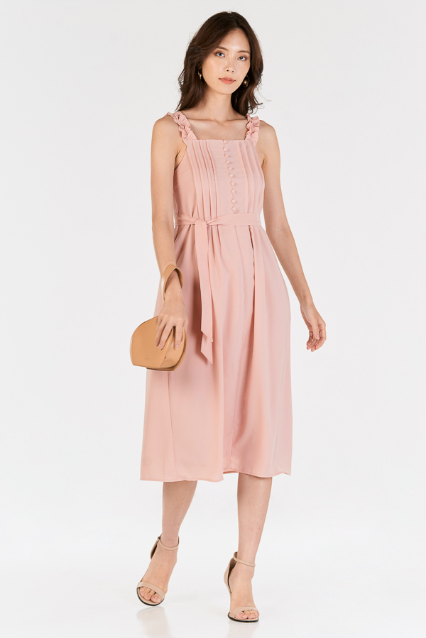 Sofina Midi Dress in Pink