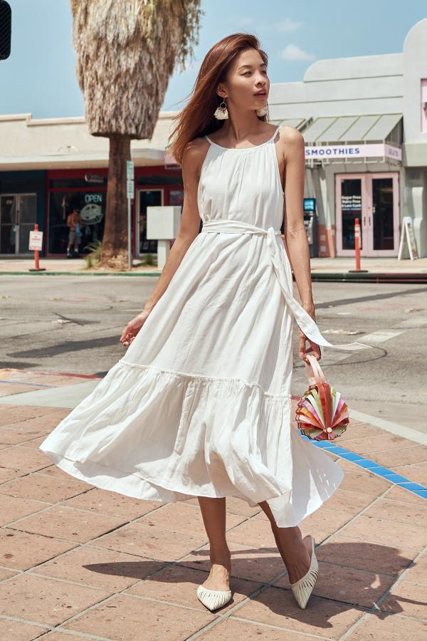 Lancaster Midi Dress in White