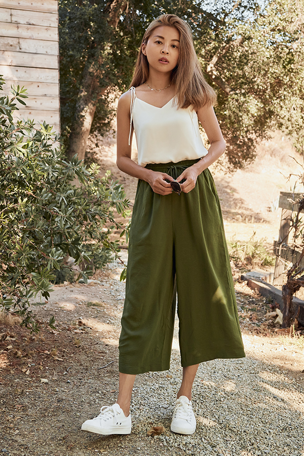 Mirada Lounge Culottes in Olive