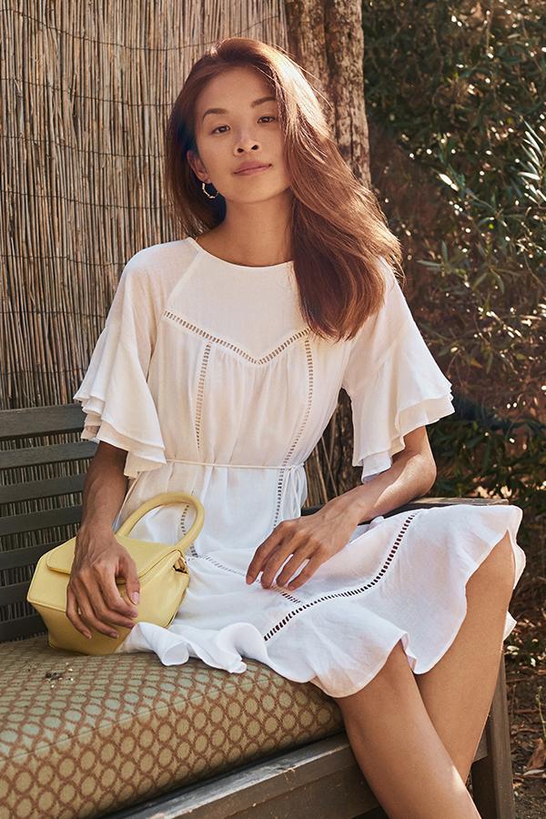 Alondra Flutter Sleeve Dress