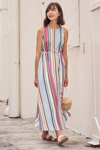 Marvilla Striped Maxi Dress