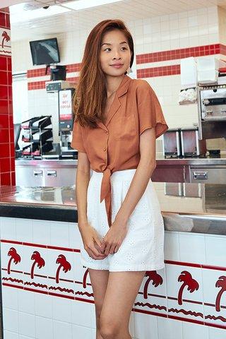 *Backorder* Clarita Eyelet Shorts in White