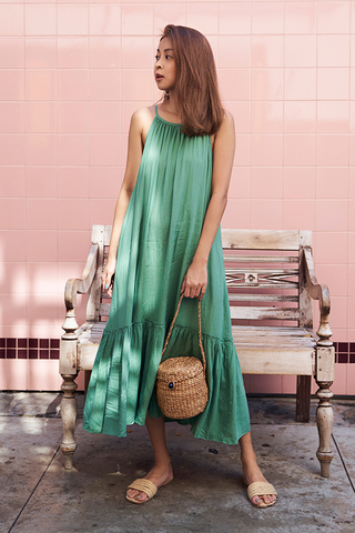 Lancaster Midi Dress in Sage Green