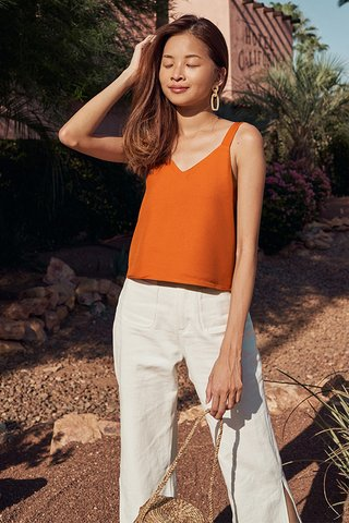 Covina Two Way Top in Burnt Orange