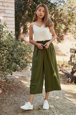 Mirada Lounge Culottes in Olive