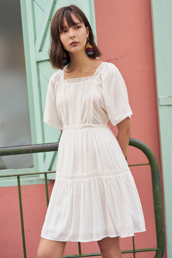 Alyse Eyelet Crochet Dress