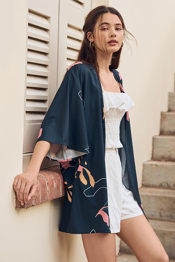 *Backorder* Olinda Abstract Printed Kimono