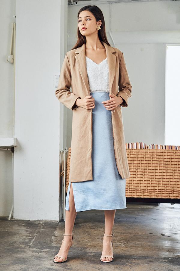 Piccadilly Wool Coat in Khaki