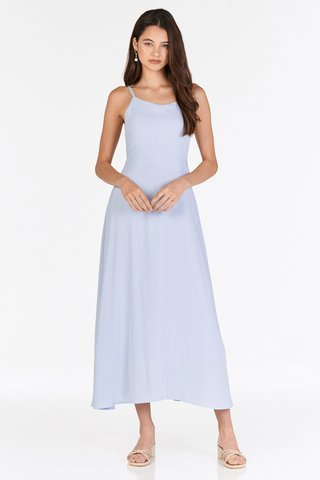 Cariella Slit Back Dress in Blue