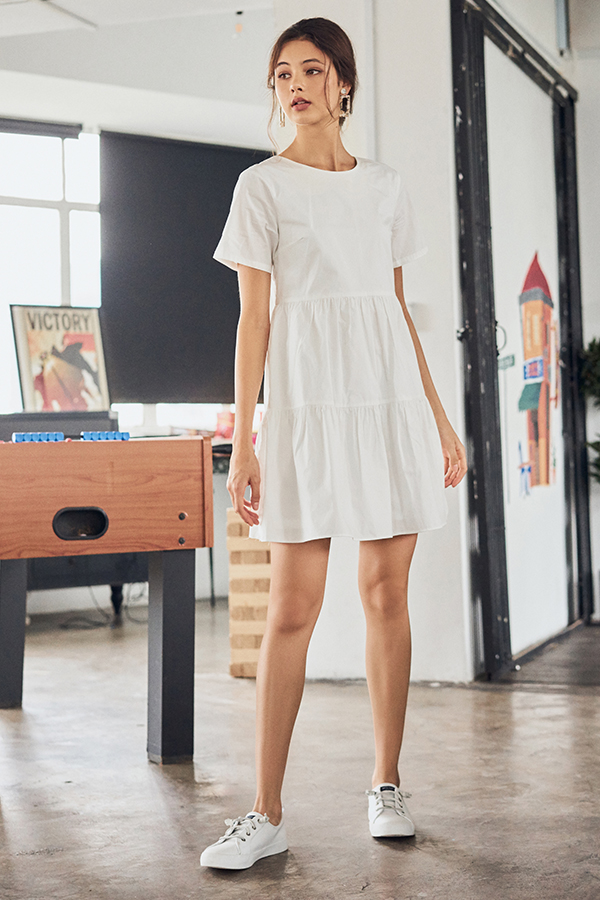Angelia Dress in White