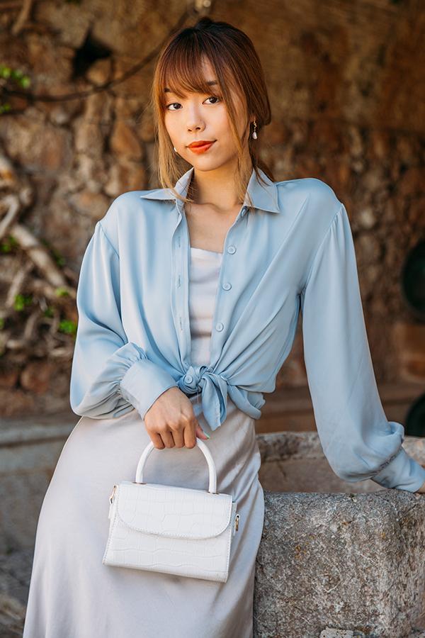 *Restock* Pia Shirt in Pearl Blue