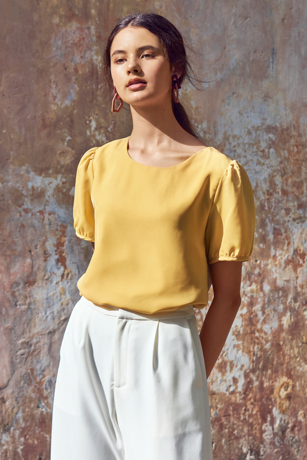 Elena Top in Daffodil