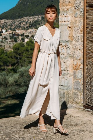 Algaida Dress in Cream