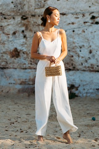 *Restock* Debora Multi-way Jumpsuit in White