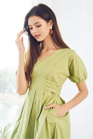 Irena Dress in Pistachio