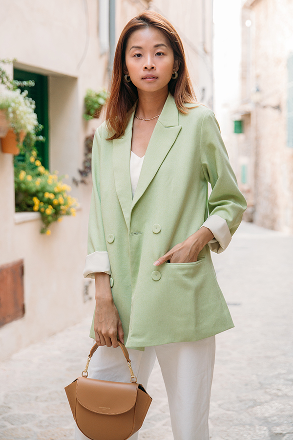 Deia Blazer in Apple Green