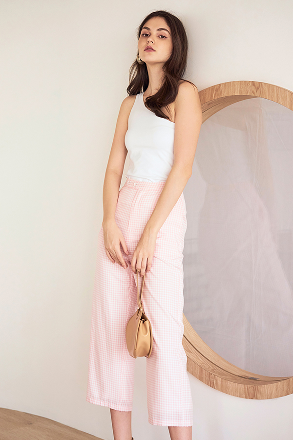 Kacia Gingham Pants in Pink