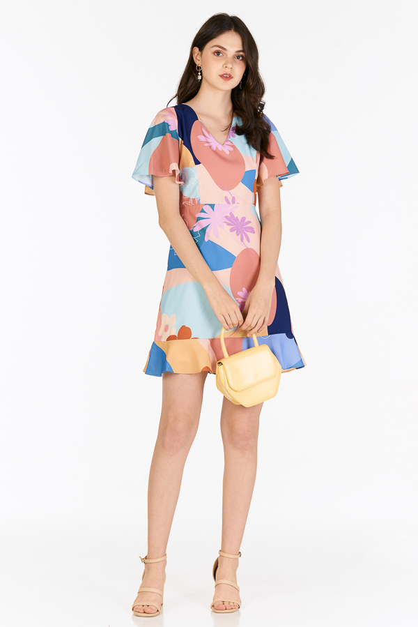 Karlee Sleeved Dress in Spring