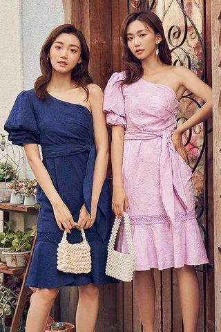 Sana Eyelet Toga Dress in Lilac