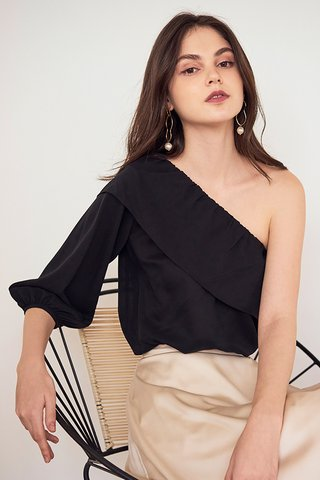 Emerie Toga Top in Black