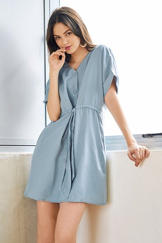 Agacia Dress in Dusty Blue