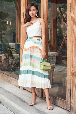 *Backorder* Dianella Pleated Midi Skirt in Dawn