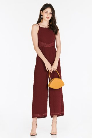 Aylin Dotted Jumpsuit in Wine