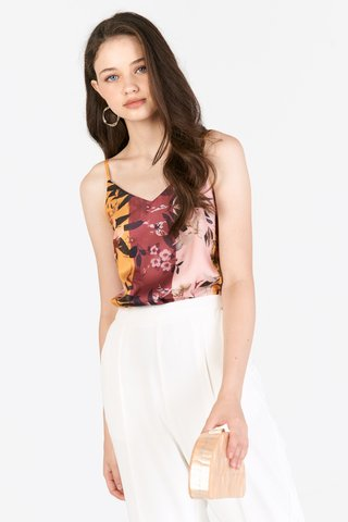 Chysa Colourblock Two Way Top in Pink