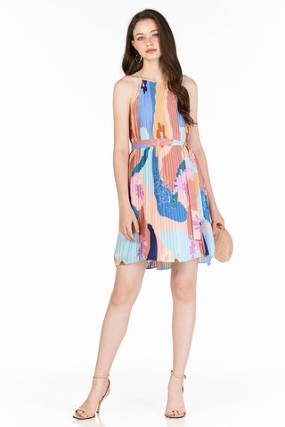 Karlee Pleated Dress in Spring