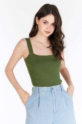 *Backorder 4* Brea Knitted Top in Aspen Green