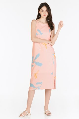 Olinda Foliage Printed Dress in Pink