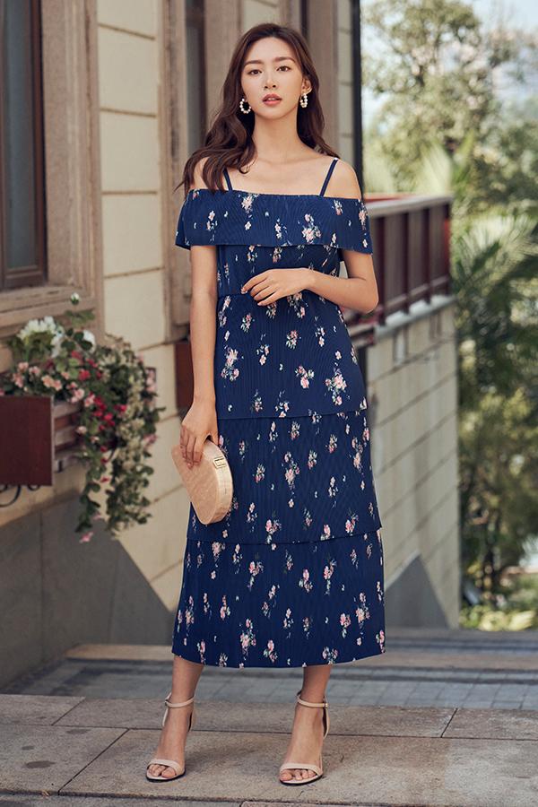Sylvie Pleated Midi Dress