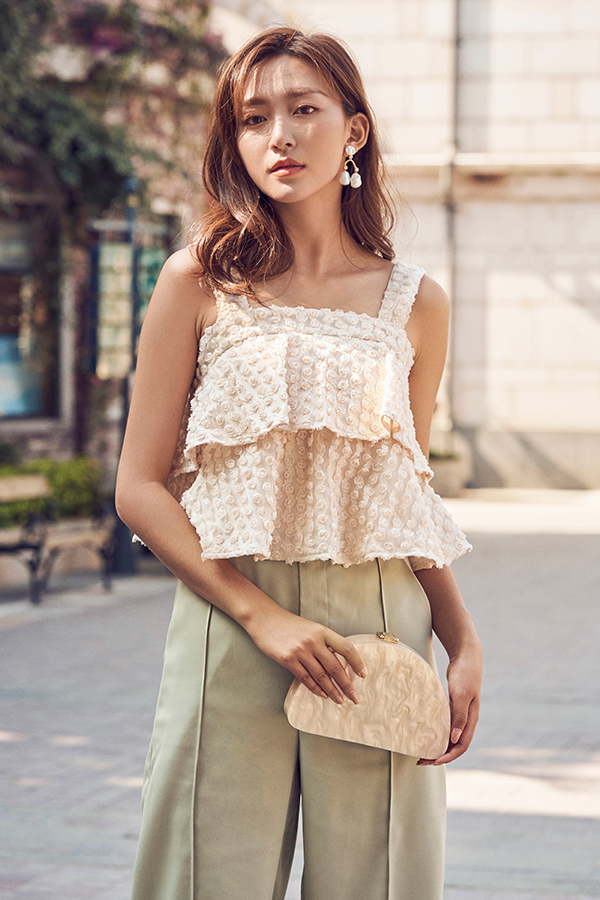 Hale Rosette Top in Cream