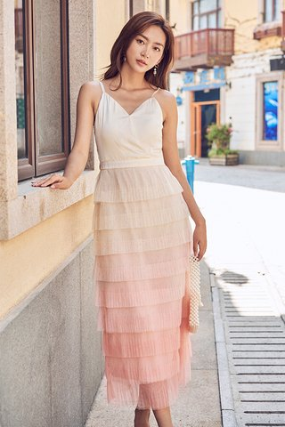 Carolia Tulle Midi Dress