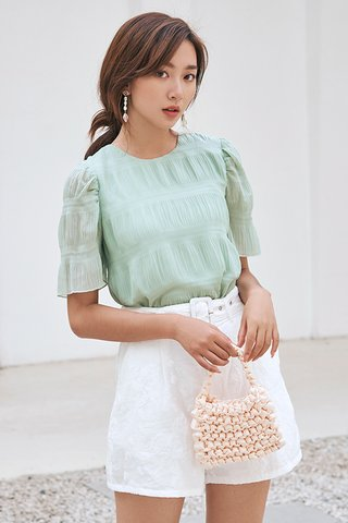 *Backorder* Claris Top in Seafoam