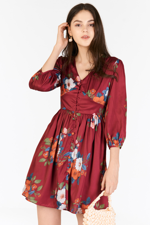 Miyah Dress in Wine