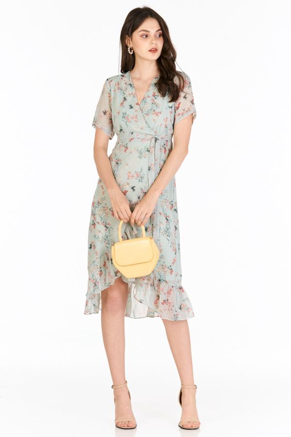 Janelle Midi Dress in Seafoam