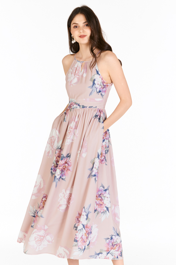 Lia Maxi Dress in Dusty Pink