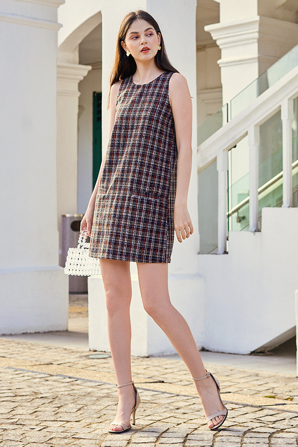 Dalenna Tweed Dress