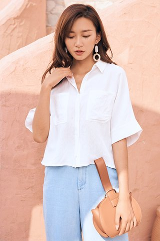 *Backorder* Edrea Button Shirt in White