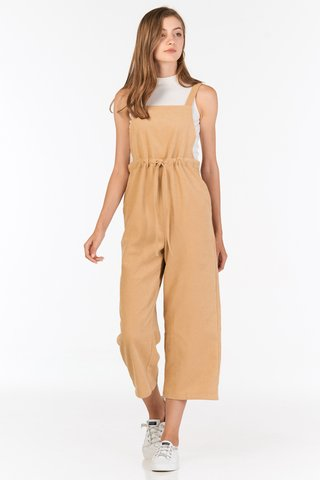 *Backorder* Lune Corduroy Jumpsuit in Khaki
