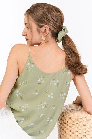 Lilla Hair Scrunchie in Sage