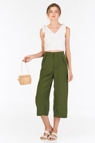 Ruth Culottes in Olive