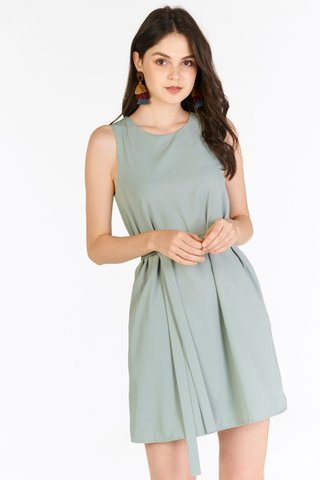 Baeley Dress in Seafoam