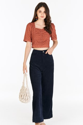 Radella Corduroy Pants in Navy